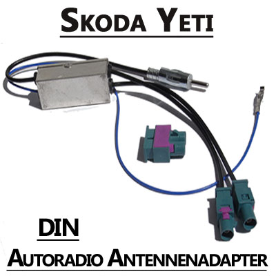 skoda yeti antennenadapter mit antennendiversity din. Black Bedroom Furniture Sets. Home Design Ideas