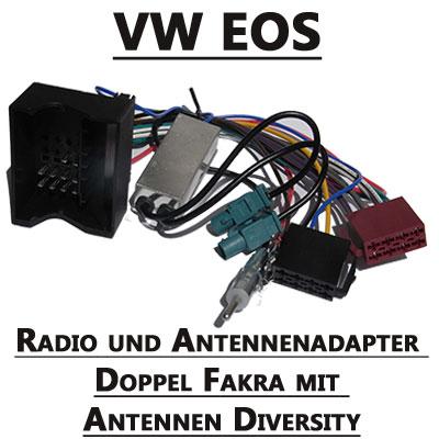 VW-EOS-Radio-und-Antennenadapter-doppel-Fakra-mit-Antennen-Diversity