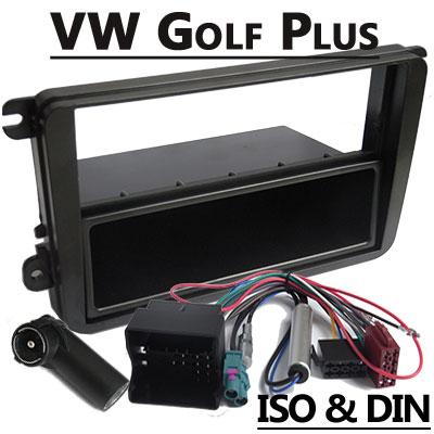 VW-Golf-Plus-Autoradio-Einbauset-1-DIN-mit-Fach