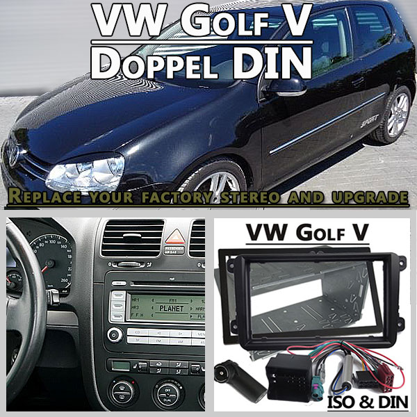vw golf v autoradio einbauset doppel din. Black Bedroom Furniture Sets. Home Design Ideas