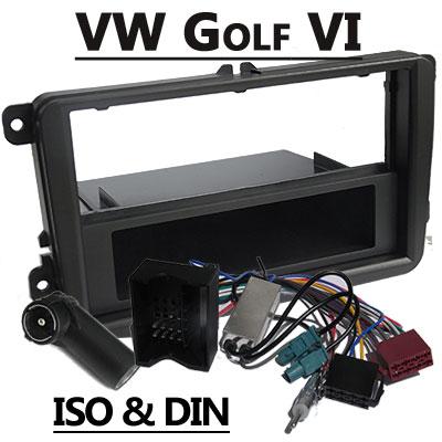 vw golf vi autoradio einbauset mit antennen diversity VW Golf VI Autoradio Einbauset mit Antennen Diversity VW Golf VI Autoradio Einbauset mit Antennen Diversity