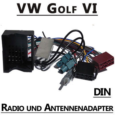 VW Golf VI Radio Adapterkabel mit Antennen Diversity DIN VW Golf VI Radio Adapterkabel mit Antennen Diversity DIN VW Golf VI Radio Adapterkabel mit Antennen Diversity DIN