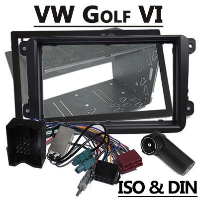 VW-Golf-VI-Radioeinbauset-2-DIN-mit-Antennen-Diversity