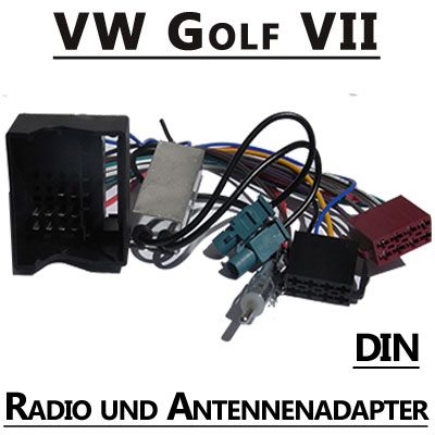VW-Golf-VII-Radio-Adapterkabel-mit-Antennen-Diversity-DIN