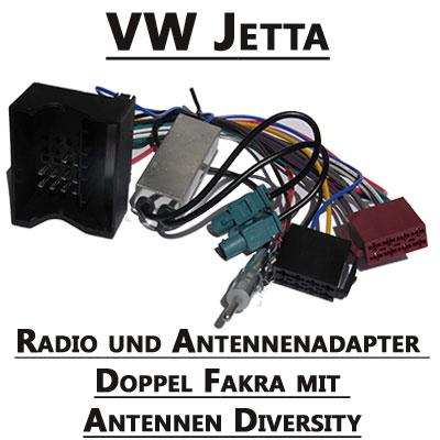 VW-Jetta-Radio-und-Antennenadapter-doppel-Fakra-mit-Antennen-Diversity
