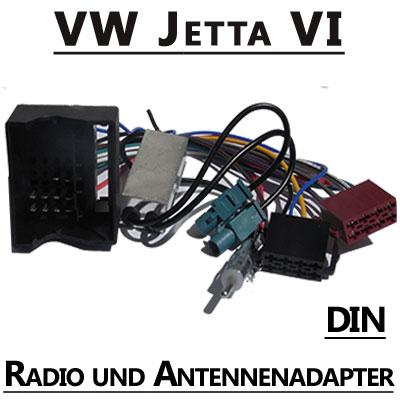 VW-Jetta-VI-Radio-Adapterkabel-mit-Antennen-Diversity-DIN