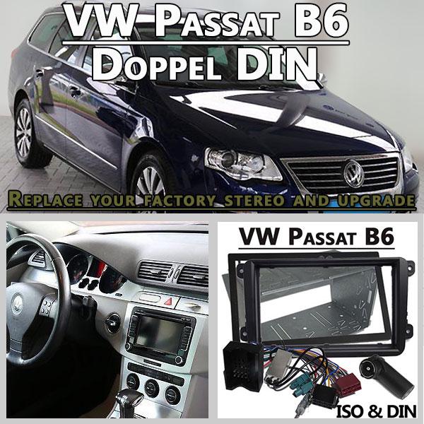 VW-Passat-B6-Autoradio-Einbauset-Doppel-DIN