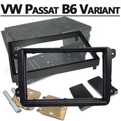 VW-Passat-B6-Variant-Doppel-DIN-Radioblende