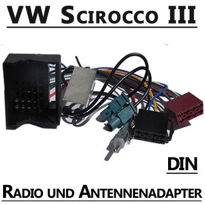 VW-Scirocco-III-Radio-Adapterkabel-mit-Antennen-Diversity-DIN