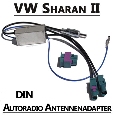 vw sharan ii antennenadapter mit antennendiversity din. Black Bedroom Furniture Sets. Home Design Ideas