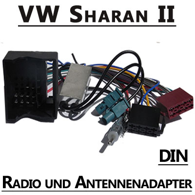 vw sharan ii radio adapterkabel mit antennen diversity din. Black Bedroom Furniture Sets. Home Design Ideas