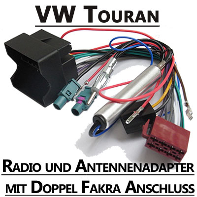 vw touran autoradio einbauset 1 din mit fach. Black Bedroom Furniture Sets. Home Design Ideas