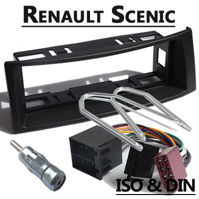 renault scenic i autoradio einbauset 1 din mit antennenadapter. Black Bedroom Furniture Sets. Home Design Ideas