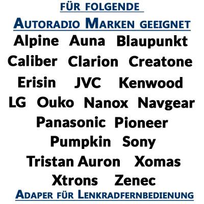 Adapter-für-Lenkradfernbedienung-für-folgende-Autoradio-Marken-geeignet