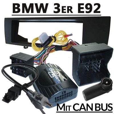 BMW-3er-Coupe-Lenkradfernbedienung-CAN-BUS-mit-Radio-Einbauset