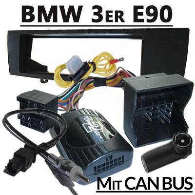bmw 3er e90 lenkradfernbedienung can bus mit radio einbauset BMW 3er E90 Lenkradfernbedienung CAN BUS mit Radio Einbauset BMW 3er E90 Lenkradfernbedienung CAN BUS mit Radio Einbauset