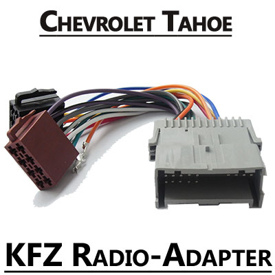 chevrolet tahoe gmt820 radio adapter iso stecker Chevrolet Tahoe GMT820 Radio Adapter ISO Stecker Chevrolet Tahoe GMT820 Radio Adapter ISO Stecker