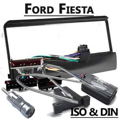 Ford-Fiesta-Lenkradfernbedienung-MK5-MK6-mit-Radio-Einbauset