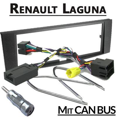 Renault-Laguna-2-Lenkradfernbedienung-CAN-BUS-mit-Radio-Einbauset