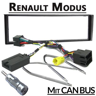 Renault-Modus-Lenkradfernbedienung-CAN-BUS-mit-Radio-Einbauset