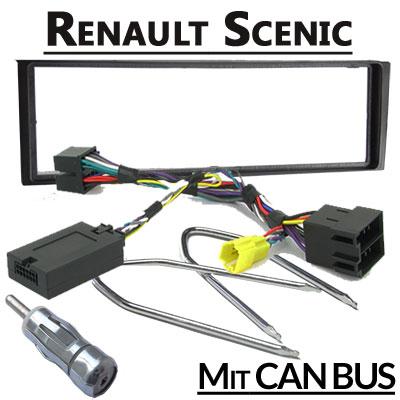 Renault-Scenic-Lenkradfernbedienung-CAN-BUS-mit-Radio-Einbauset
