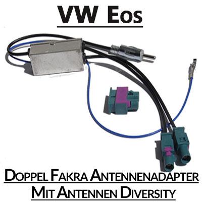 VW-EOS-Doppel-Fakra-Antennenadapter-mit-Antennen-Diversity