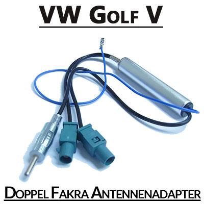 VW-Golf-V-Doppel-Fakra-Antennenadapter