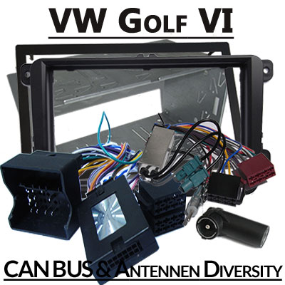 VW Golf VI Lenkradfernbedienung 2 DIN Einbauset und Antennen Diversity VW Golf VI Lenkradfernbedienung 2 DIN Einbauset und Antennen Diversity VW Golf VI Lenkradfernbedienung 2 DIN Einbauset und Antennen Diversity
