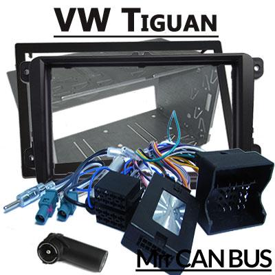 VW-Tiguan-Lenkradfernbedienung-mit-Autoradio-Einbauset-Doppel-DIN