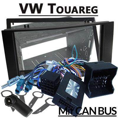 VW-Touareg-Lenkradfernbedienung-mit-Autoradio-Einbauset-Doppel-DIN