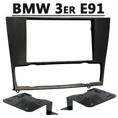 BMW-3er-Touring-E91-Doppel-DIN-Radioblende