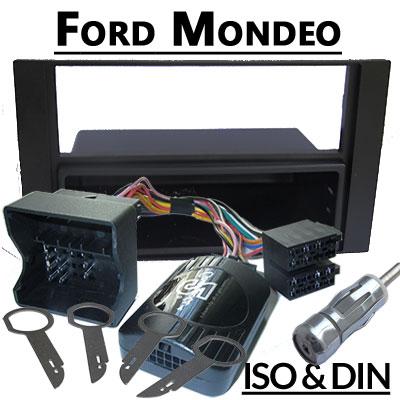 Ford-Mondeo-Lenkradfernbedienung-mit-Autoradio-Einbauset-schwarz