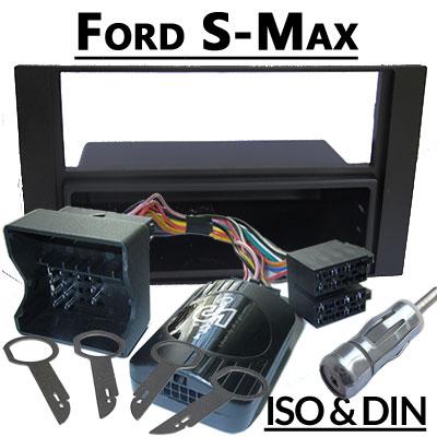 Ford-S-Max-Lenkradfernbedienung-mit-Autoradio-Einbauset-schwarz