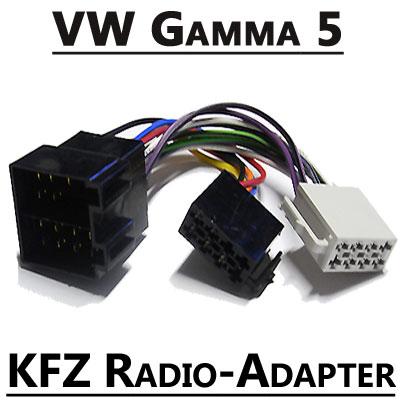 VW-Gamma-5-Autoradio-Anschlusskabel