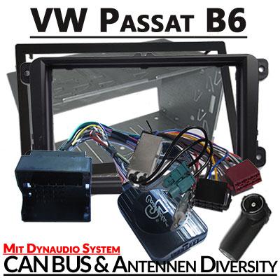 VW-Passat-B6-mit-Dynaudio-Lenkradfernbedienung-2-DIN-Einbauset