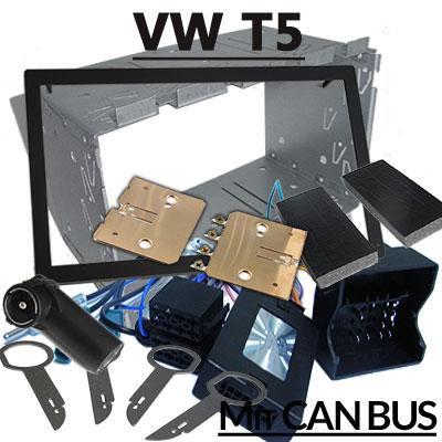 VW-T5-mit-Delta-Radio-Lenkradfernbedienung-Radioeinbauset-2-DIN