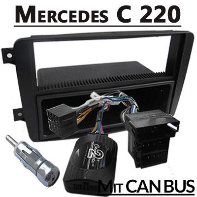 mercedes-c220-lenkradfernbedienung-mit-autoradio-einbauset-1-din