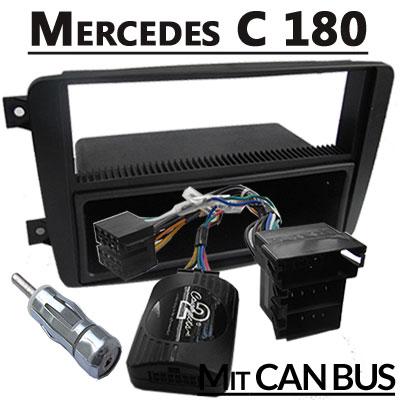 mercedes-c180-lenkradfernbedienung-mit-autoradio-einbauset-1-din