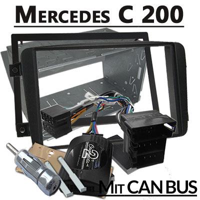 mercedes-c200-lenkradfernbedienung-mit-2-din-autoradio-einbauset