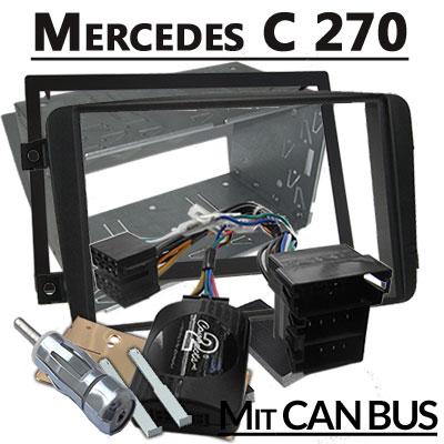 mercedes-c270-lenkradfernbedienung-mit-2-din-autoradio-einbauset
