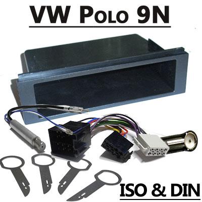 VW Polo 9N Autoradio Einbauset 1 DIN mit Fach VW Polo 9N Autoradio Einbauset 1 DIN mit Fach VW Polo 9N Autoradio Einbauset 1 DIN mit Fach