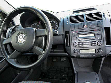 vw polo 9n autoradio einbauset 1 din mit fach. Black Bedroom Furniture Sets. Home Design Ideas