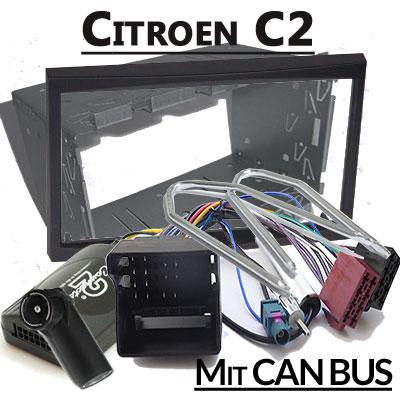 citroen c2 lenkradfernbedienung mit 2 din autoradio einbauset Citroen C2 Lenkradfernbedienung mit 2 DIN Autoradio Einbauset Citroen C2 Lenkradfernbedienung mit 2 DIN Autoradio Einbauset