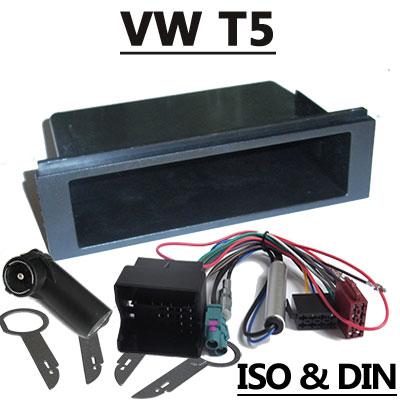 VW T5 Radioeinbauset Doppel DIN mit Anschlusskabel VW T5 Einbauset Fremdradio 1DIN mit Anschlusskabel VW T5 Einbauset Fremdradio 1DIN mit Anschlusskabel