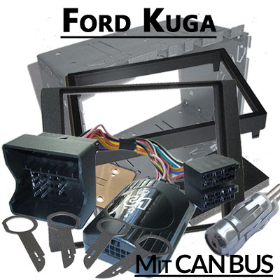 Opel Astra H Lenkradfernbedienung und 2DIN Set schwarz Ford Kuga Lenkradfernbedienung 2DIN Set CAN BUS Ford Kuga Lenkradfernbedienung 2DIN Set CAN BUS