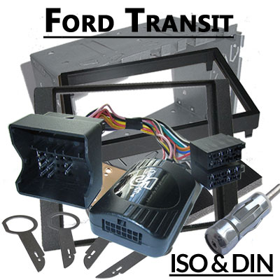 Opel Astra H Lenkradfernbedienung und 2DIN Set schwarz Ford Transit 06 Lenkradfernbedienung 2DIN Set Analog 2006-2013 Ford Transit 06 Lenkradfernbedienung 2DIN Set Analog 2006 2013