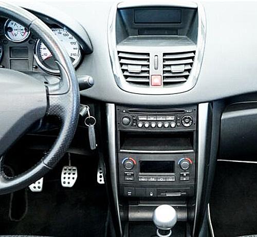 Opel Astra H Lenkradfernbedienung und 2DIN Set schwarz Peugeot 207 Adapter für Lenkradfernbedienung mit Parksignal RD4 Peugeot 207