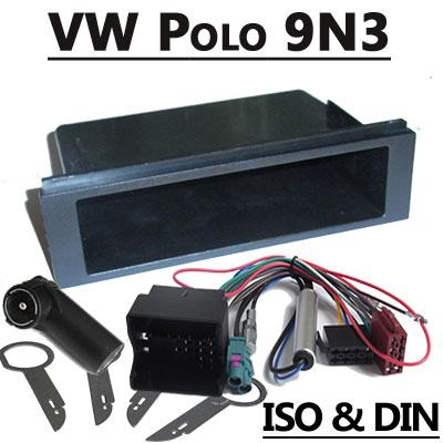 VW T5 Radioeinbauset Doppel DIN mit Anschlusskabel VW Polo 9N3 Einbauset Fremdradio 1DIN mit Anschlusskabel polo 9N3 set